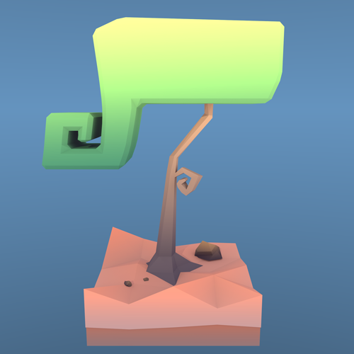 Low Poly Kringel-Baum