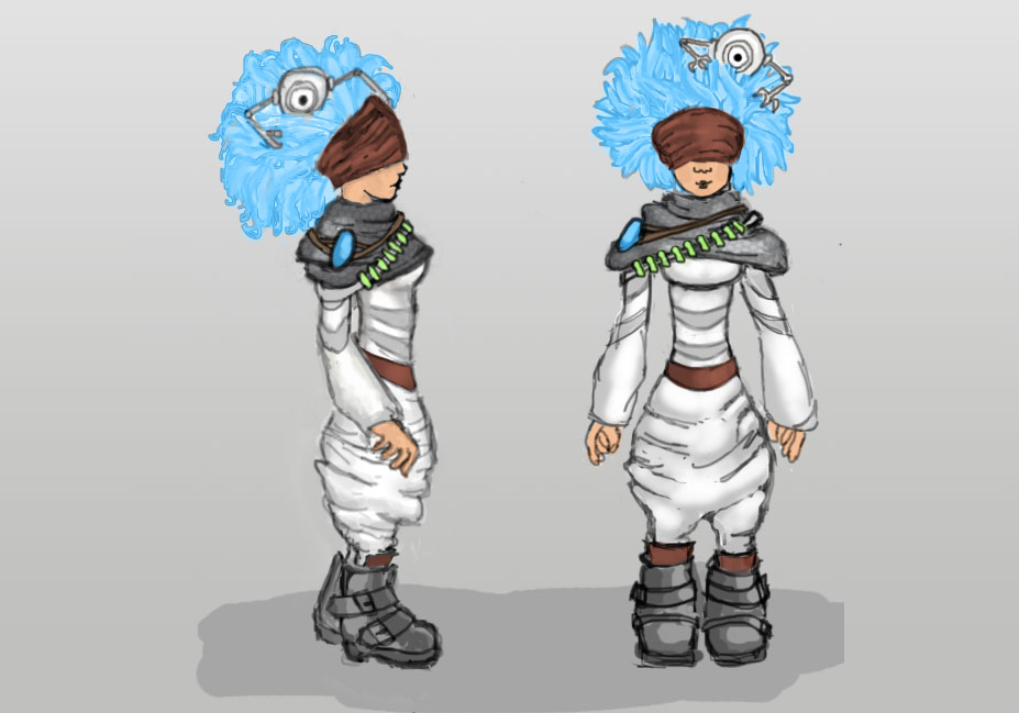 CERN Legacy main character concept art